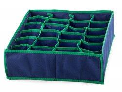 Verk 15393 Organizer do zásuvky na prádlo 24 přihrádek modrý