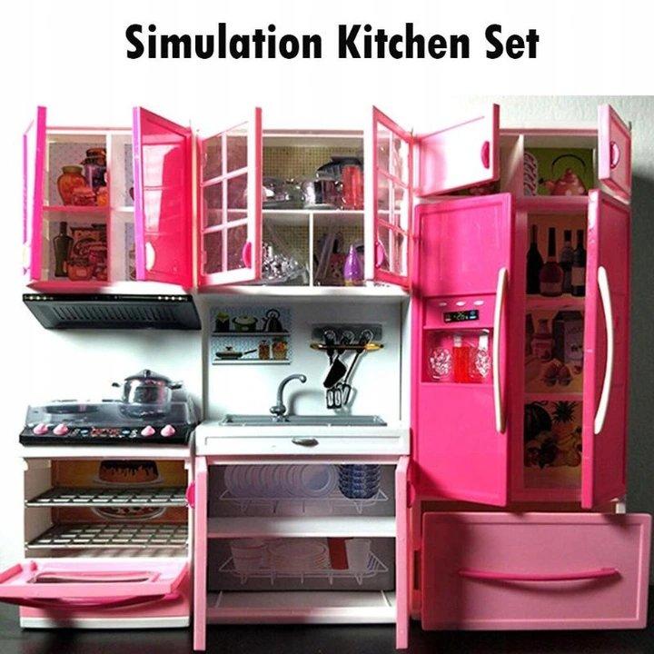 KIK KX6783 Kuchyňka pro panenky se 3 segmenty LED