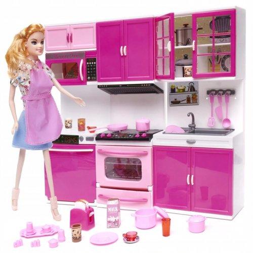 KIK KX6526 Kuchyňka pro panenky se 3 segmenty LED