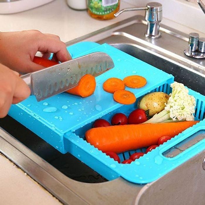 GFT Kuchyňské prkénko s odkapávačem i boxem