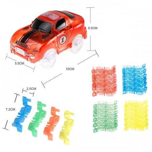 KIK Svítící autodráha Track Car s autíčkem 128 dílků II