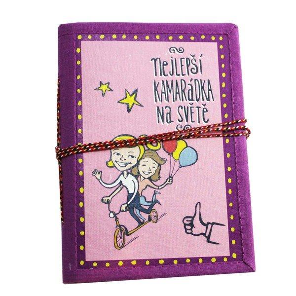 Ručně vyrobený zápisník - Nejlepší kamarádka